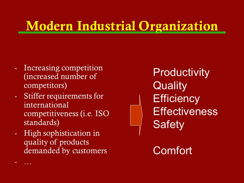 Modern Industrial Organization