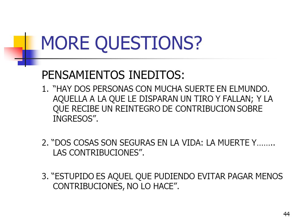 MORE QUESTIONS PENSAMIENTOS INEDITOS: