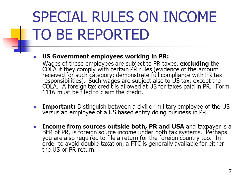 SPECIAL RULES ON INCOME TO BE REPORTED