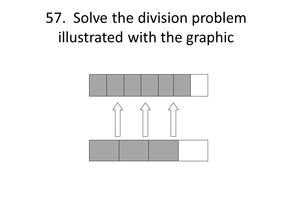57. Solve the division problem illustrated with the graphic