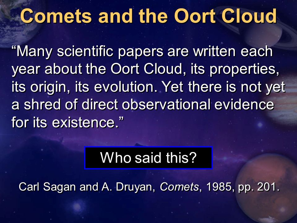 Comets and the Oort Cloud