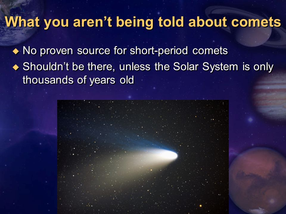What you aren't being told about comets