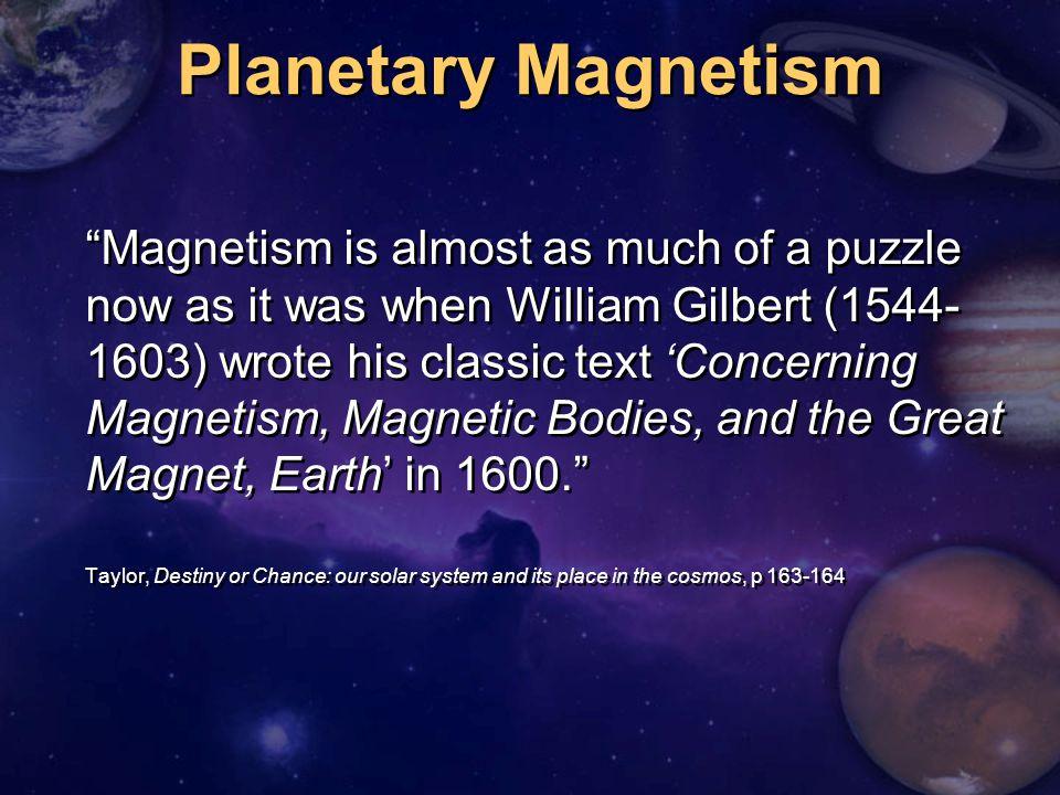 Planetary Magnetism