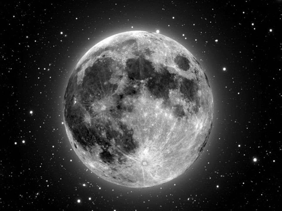 Heavens Declare Moon The moon is about 240,000 miles away from the earth (384,400 km). Image Source: NASA (Public Domain)
