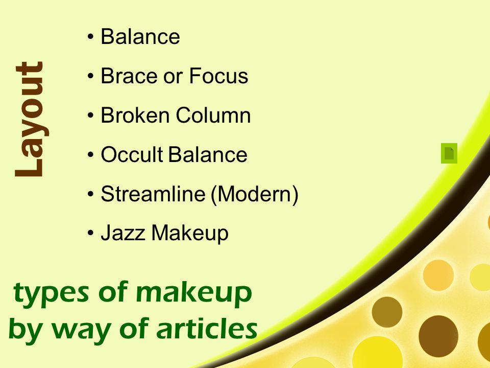 types of makeup by way of articles