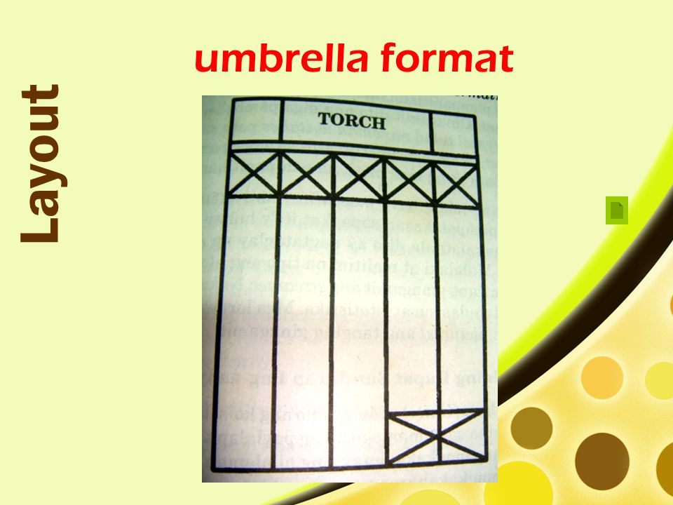 umbrella format Layout