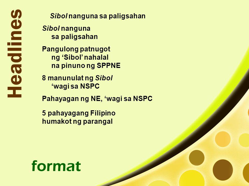 Headlines format Sibol nanguna sa paligsahan