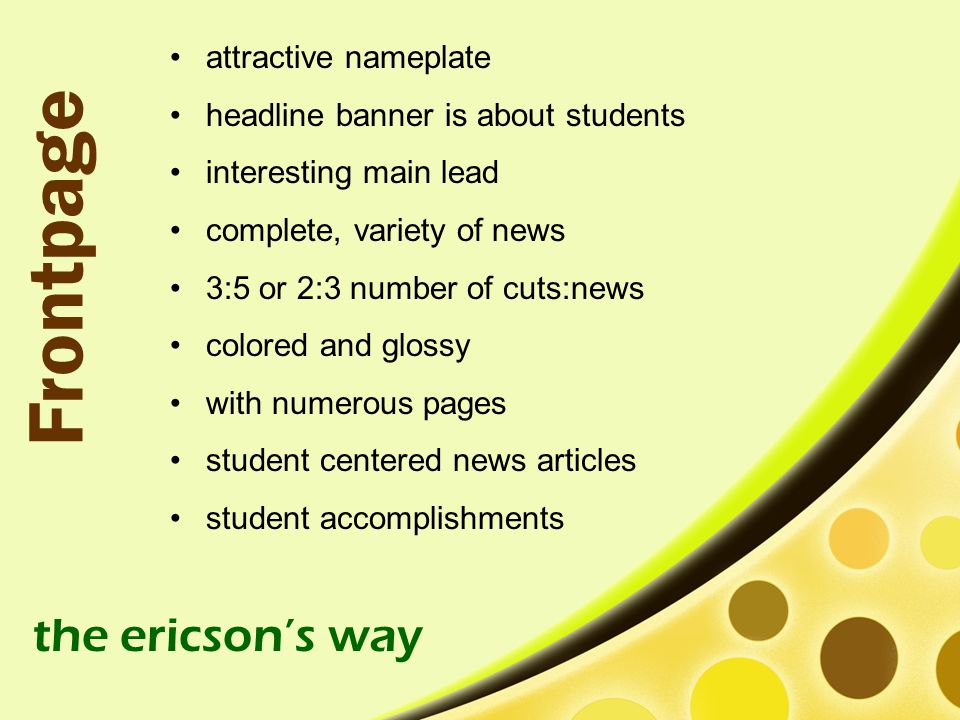 Frontpage the ericson's way attractive nameplate