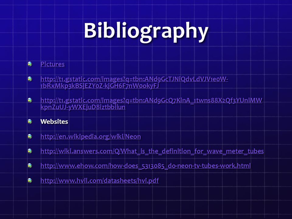 Bibliography Pictures