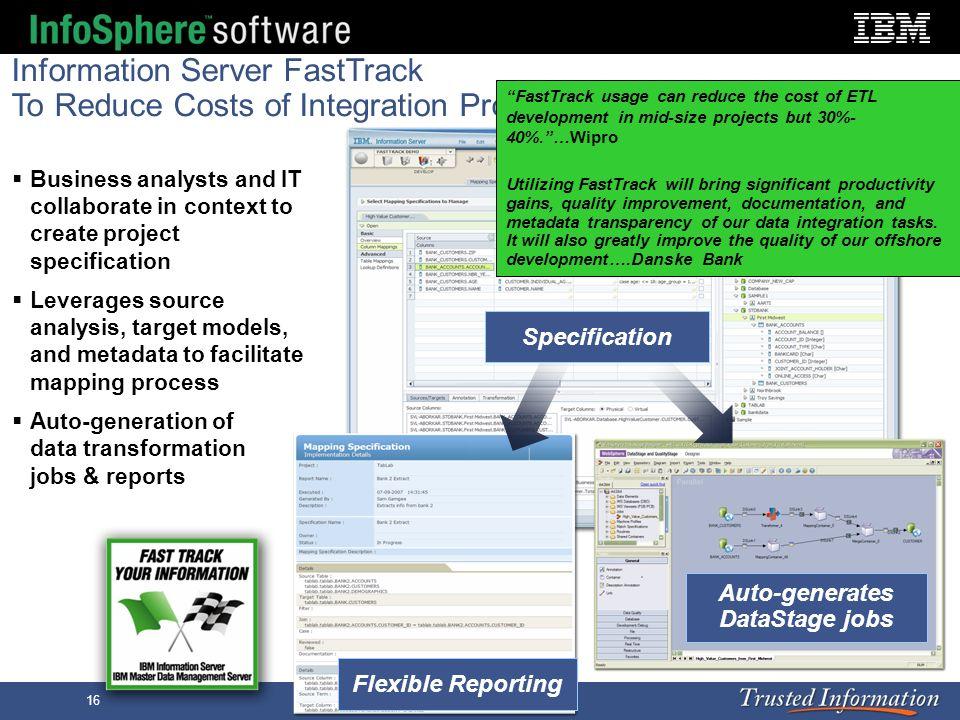 Auto-generates DataStage jobs