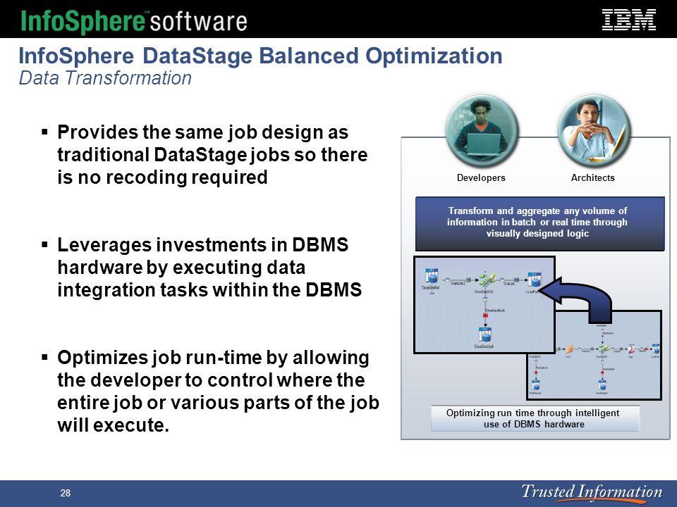 InfoSphere DataStage Balanced Optimization Data Transformation