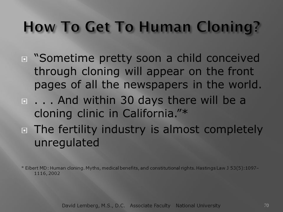 How To Get To Human Cloning