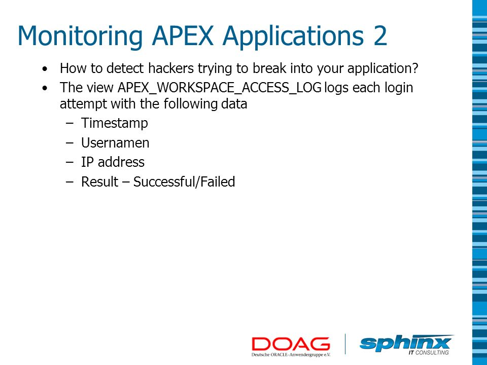 Monitoring APEX Applications 2