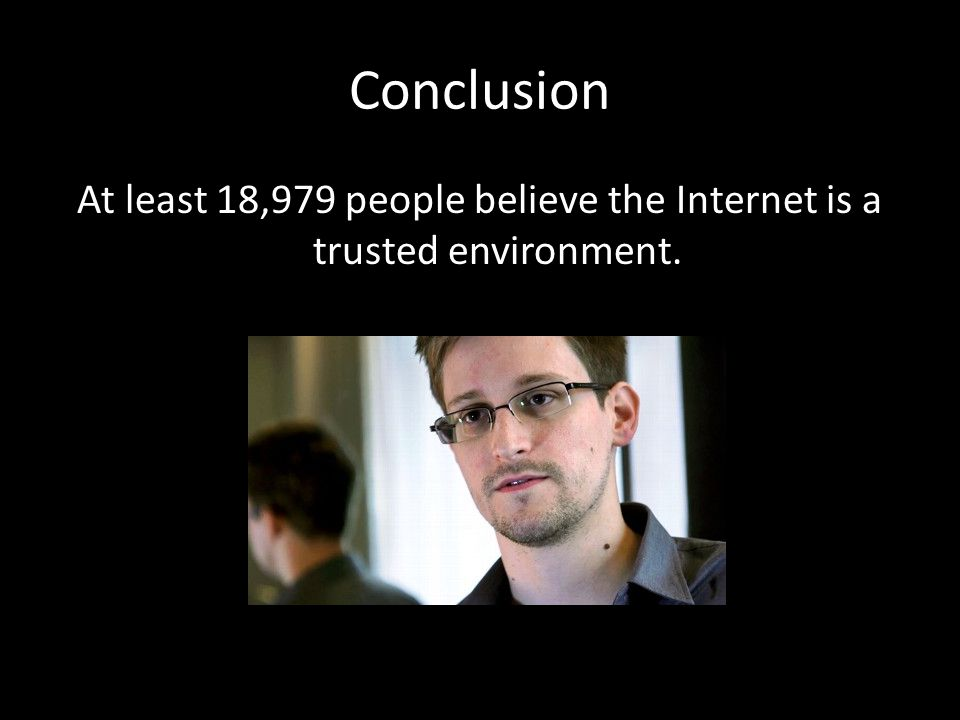 At least 18,979 people believe the Internet is a trusted environment.