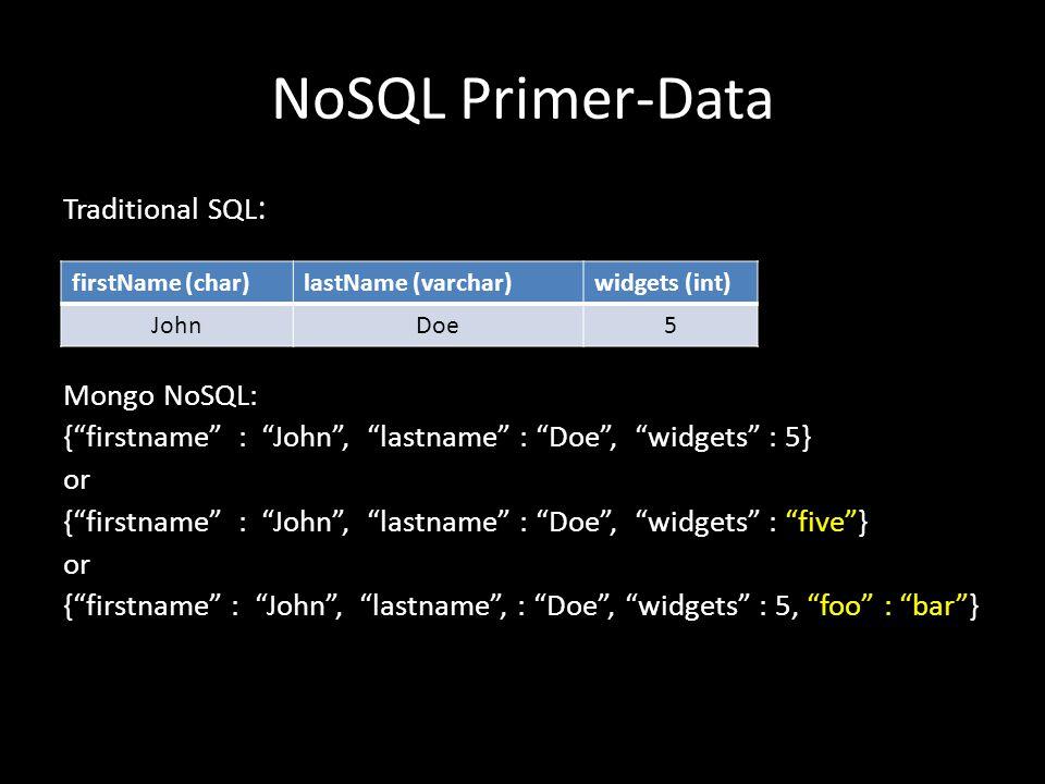 NoSQL Primer-Data