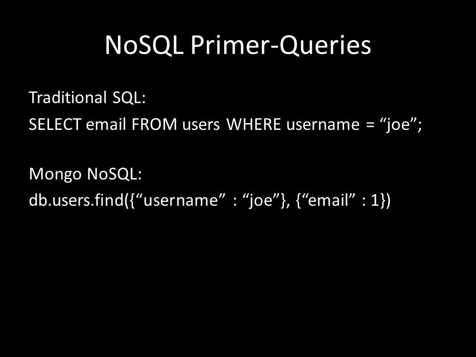 NoSQL Primer-Queries