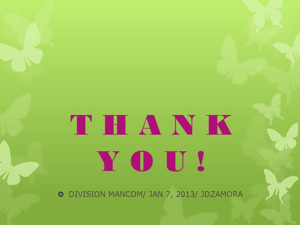 DIVISION MANCOM/ JAN 7, 2013/ JDZAMORA