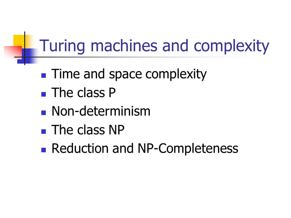 Turing machines and complexity