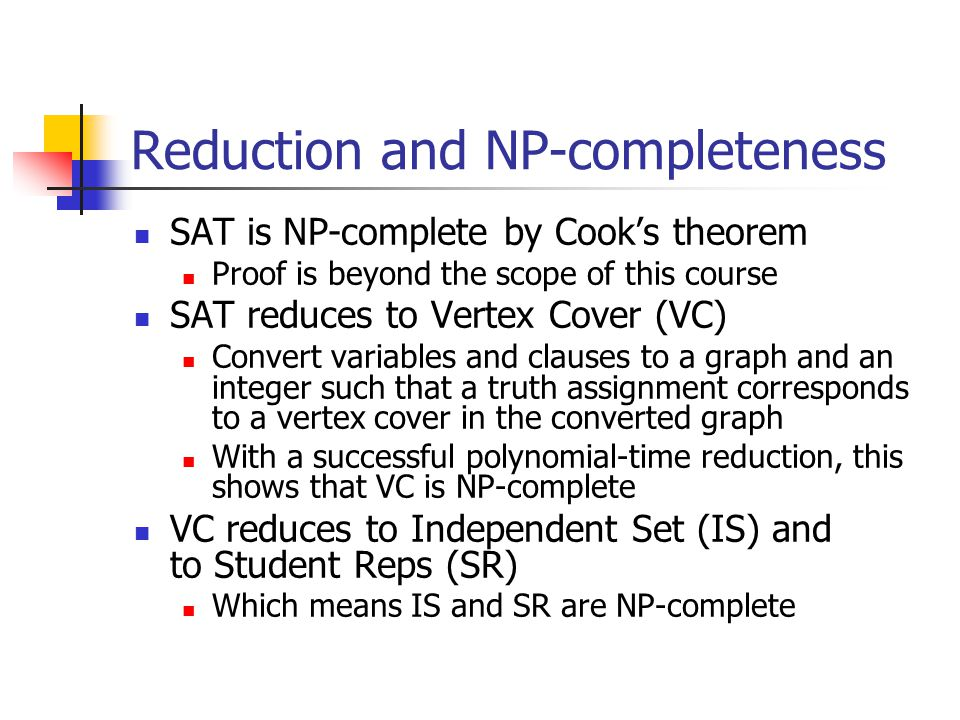 Reduction and NP-completeness