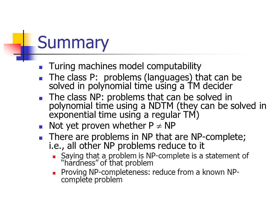 Summary Turing machines model computability