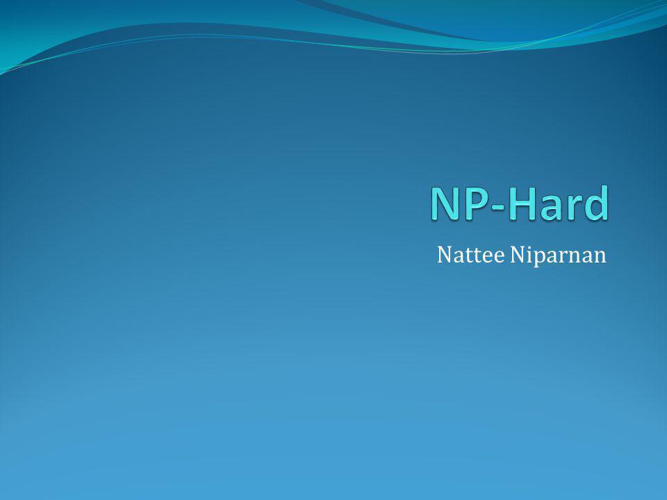 NP-Hard Nattee Niparnan