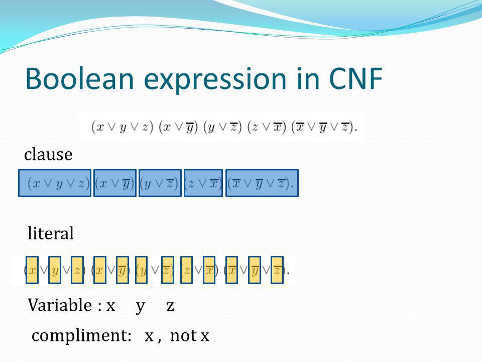Boolean expression in CNF