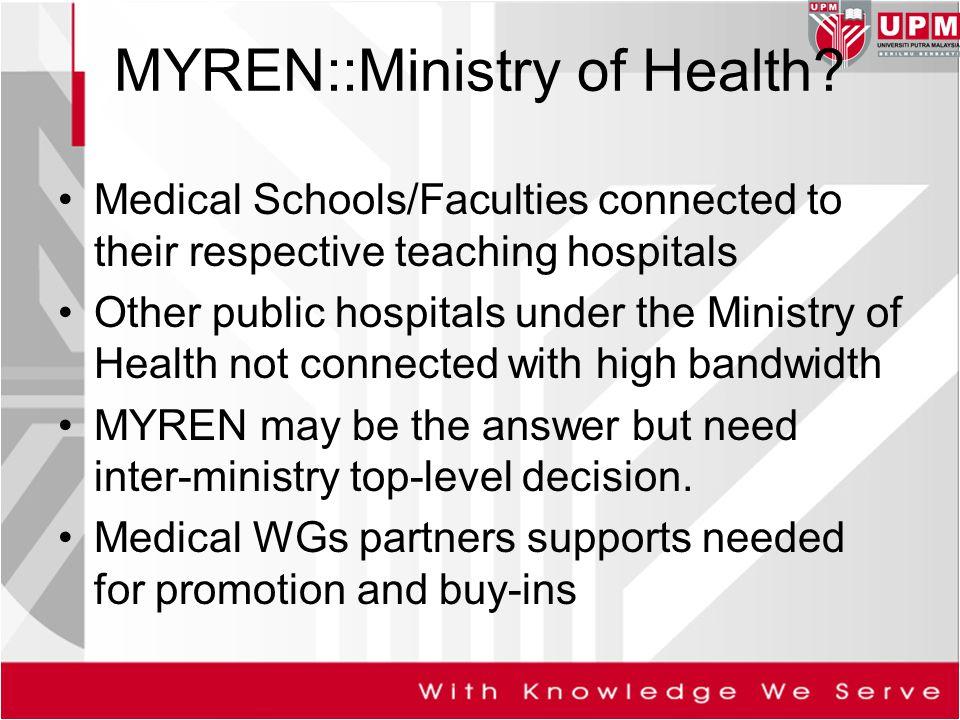 MYREN::Ministry of Health