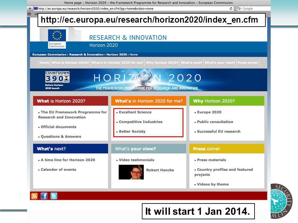 http://ec.europa.eu/research/horizon2020/index_en.cfm It will start 1 Jan 2014.