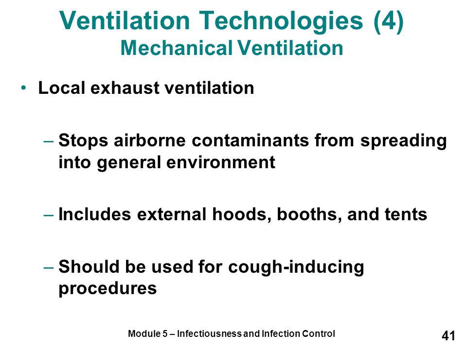 Ventilation Technologies (4) Mechanical Ventilation