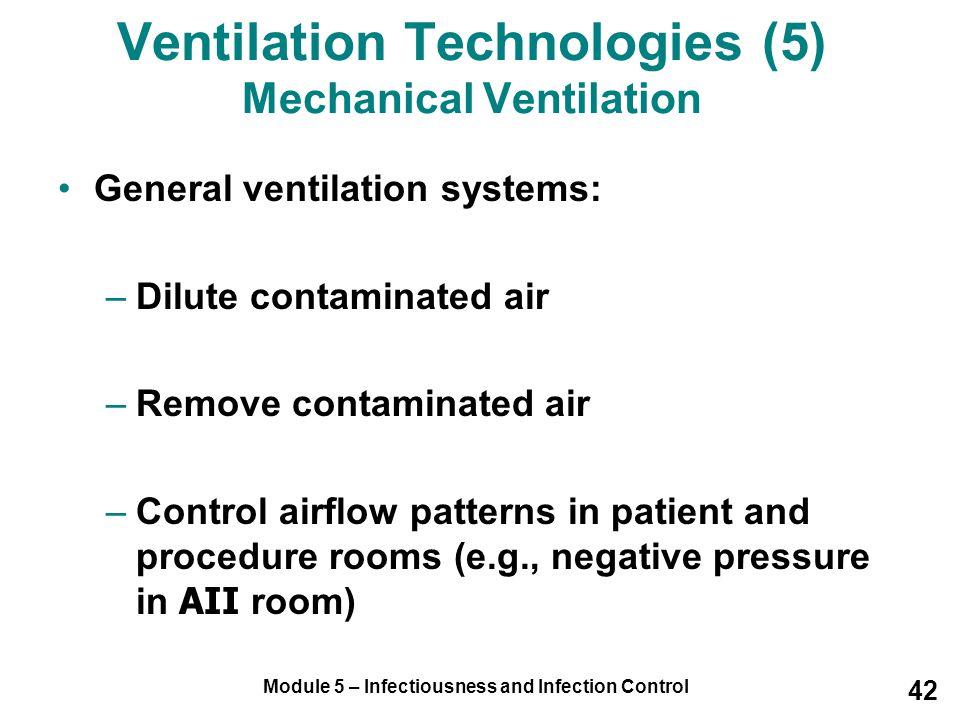 Ventilation Technologies (5) Mechanical Ventilation