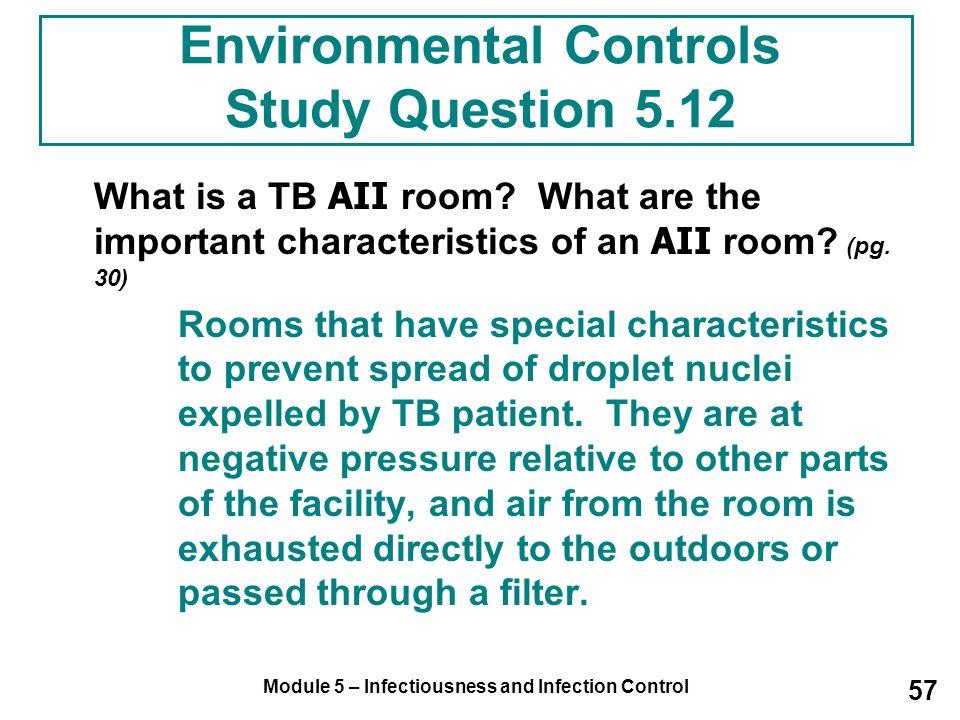 Environmental Controls Study Question 5.12