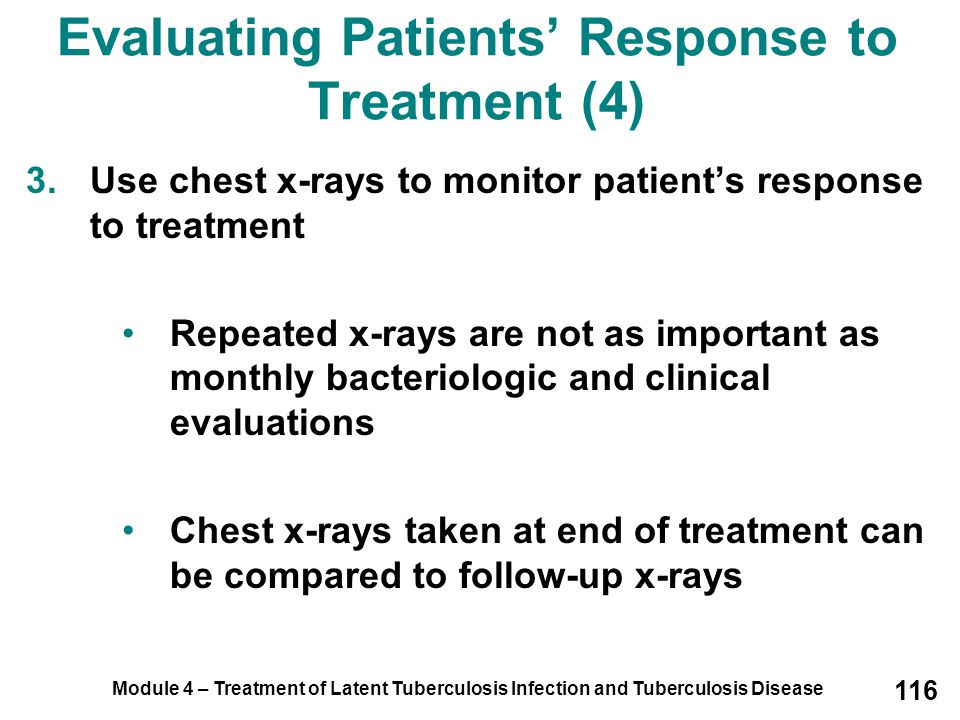 Evaluating Patients' Response to Treatment (4)