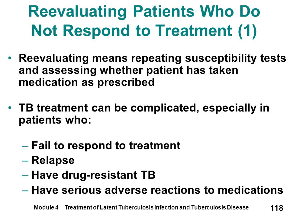 Reevaluating Patients Who Do Not Respond to Treatment (1)