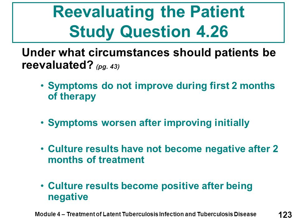 Reevaluating the Patient Study Question 4.26