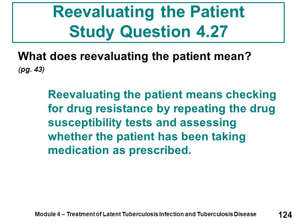 Reevaluating the Patient Study Question 4.27