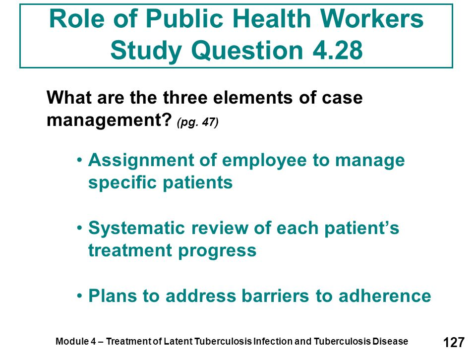 Role of Public Health Workers Study Question 4.28