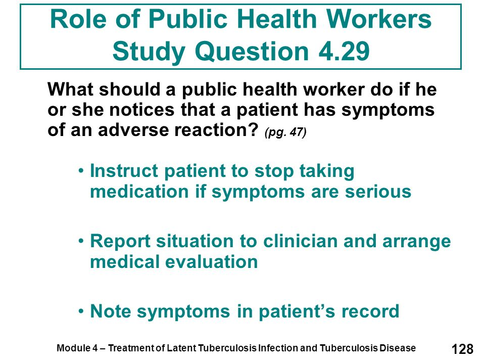 Role of Public Health Workers Study Question 4.29