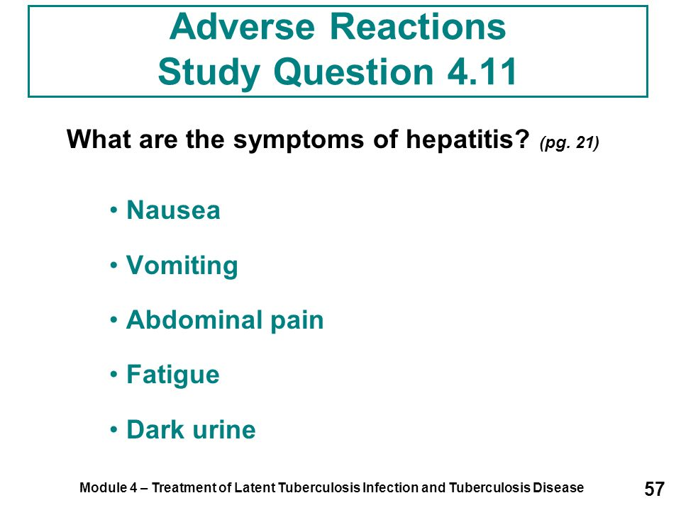 Adverse Reactions Study Question 4.11