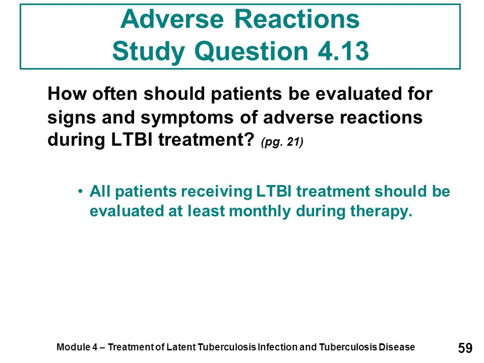 Adverse Reactions Study Question 4.13