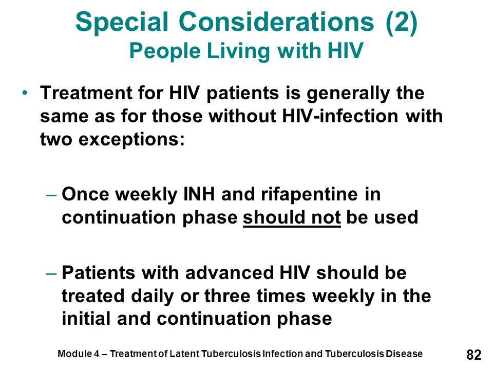 Special Considerations (2) People Living with HIV