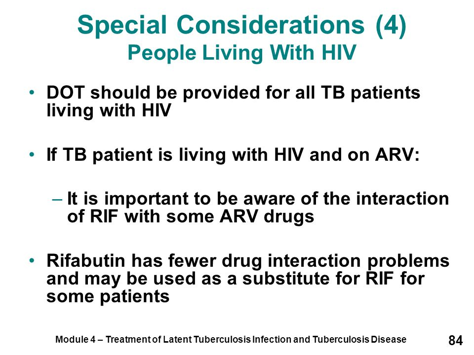 Special Considerations (4) People Living With HIV