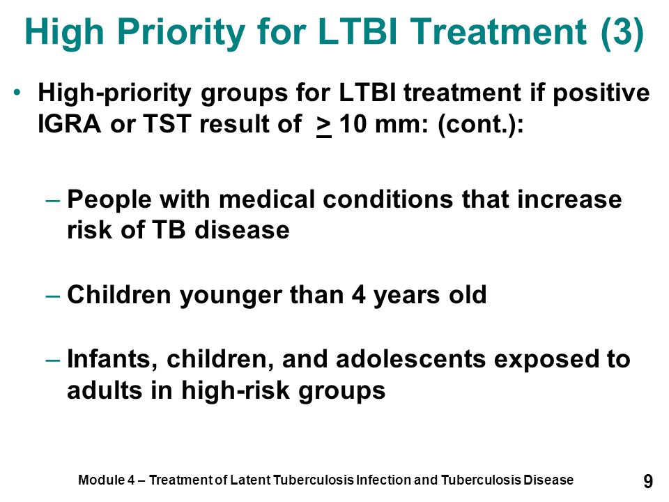 High Priority for LTBI Treatment (3)