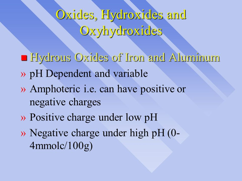 Oxides, Hydroxides and Oxyhydroxides