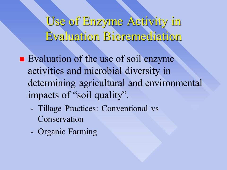 Use of Enzyme Activity in Evaluation Bioremediation