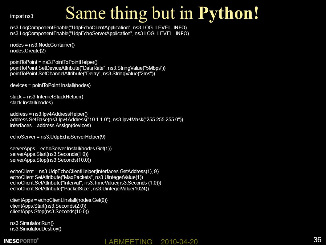 Same thing but in Python!