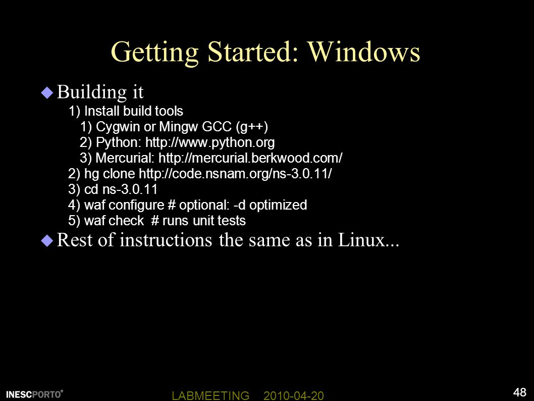 Getting Started: Windows