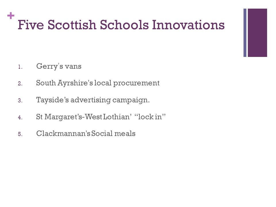 Five Scottish Schools Innovations