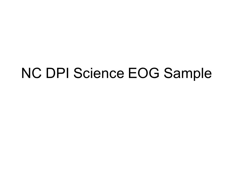 NC DPI Science EOG Sample