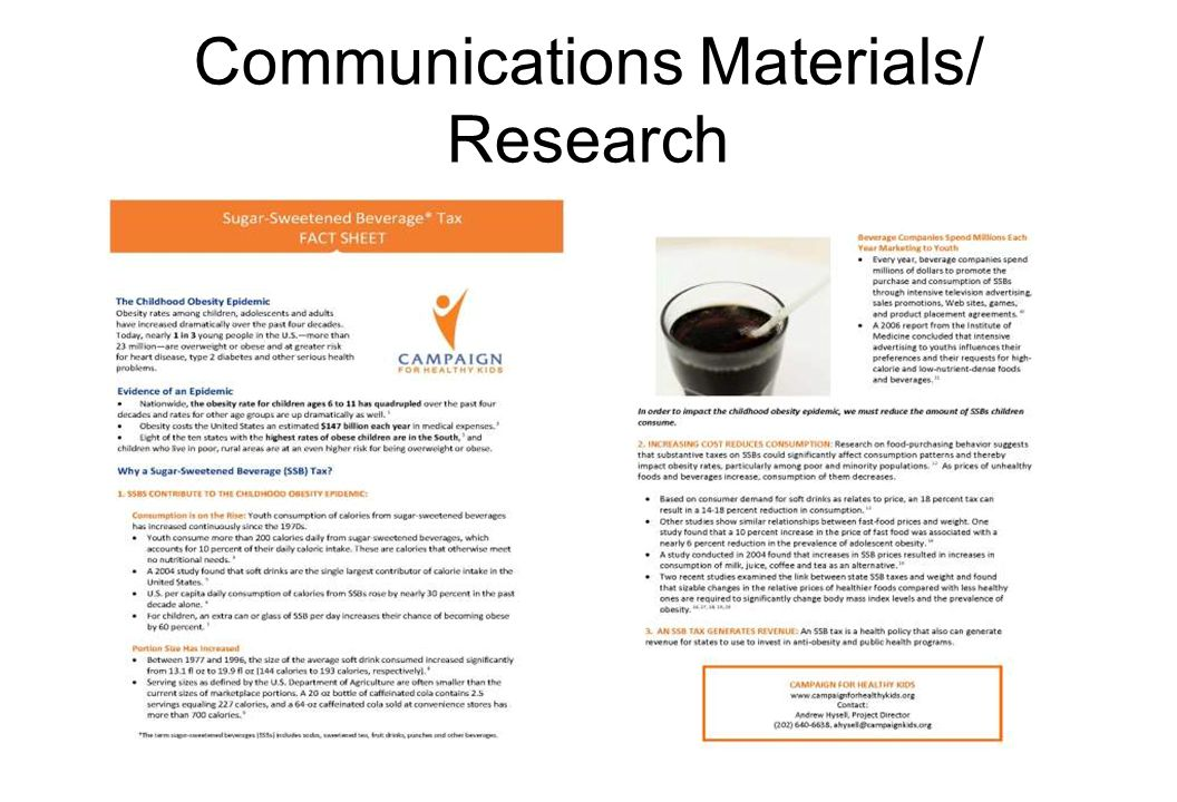 Communications Materials/ Research