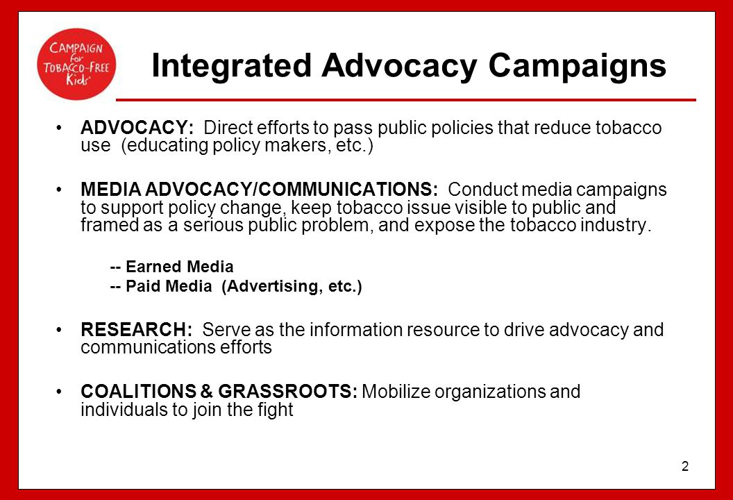 Integrated Advocacy Campaigns